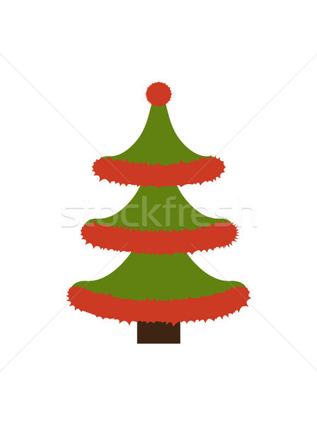 New Years Tree Made of Tinsel Vector Illustration Stock photo © robuart