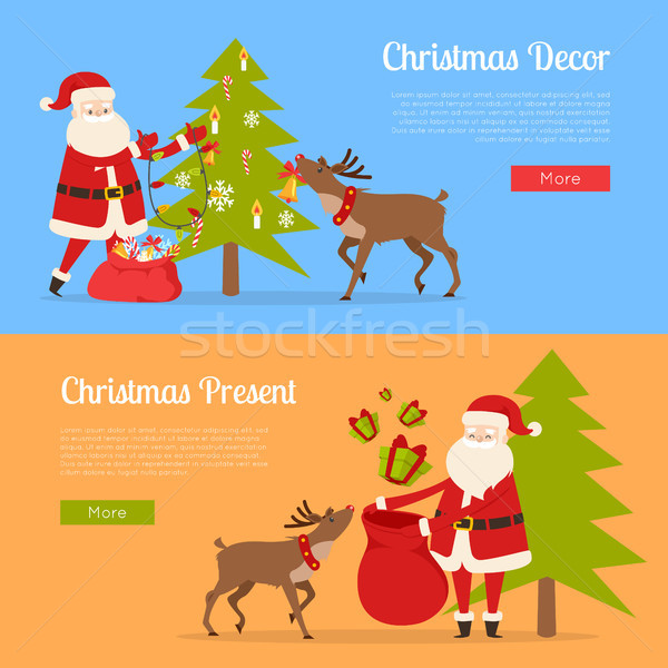 Christmas Decor and Present with Santa Claus. Stock photo © robuart