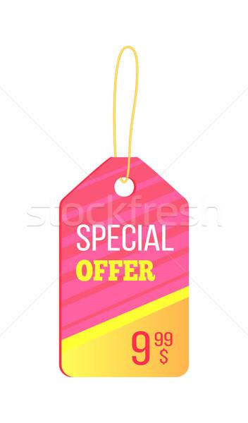 Oferta specjalna kolorowy cacko różowy żółty liny Zdjęcia stock © robuart