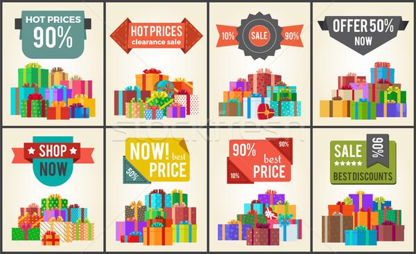 Caldo prezzi vendita promo etichette cento Foto d'archivio © robuart
