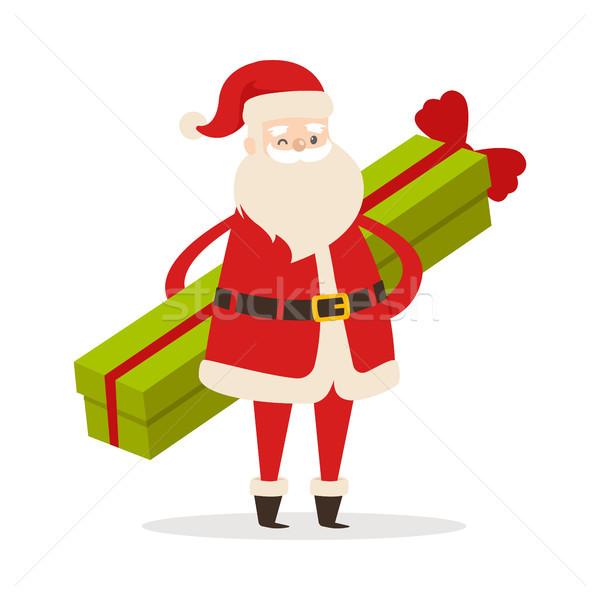 Stehen lange Geschenk weiß grünen Stock foto © robuart