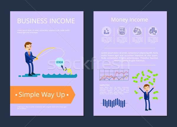 Business Income Simple Way Up Vector Illustration Stock photo © robuart
