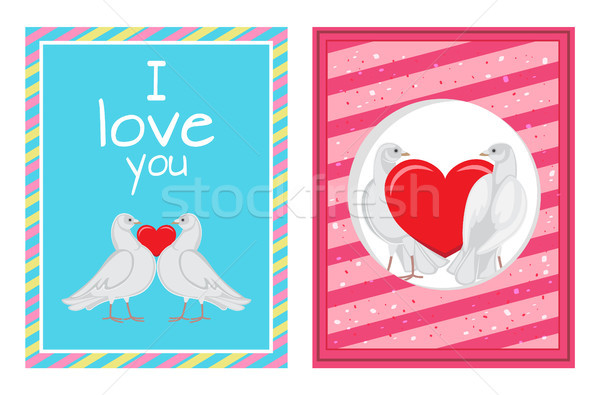 белый пары сердце набор Сток-фото © robuart