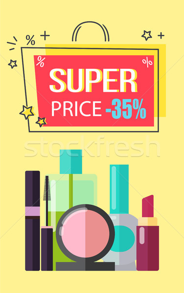 Super Price -35 Make Up, Vector Illustration Stock photo © robuart