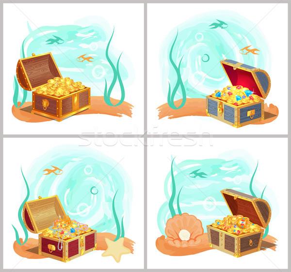 胸 ボトム 海 セット 明るい ストックフォト © robuart