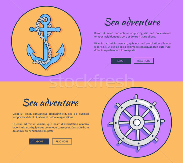 Set of Advertising Banners for Sea Adventures Stock photo © robuart