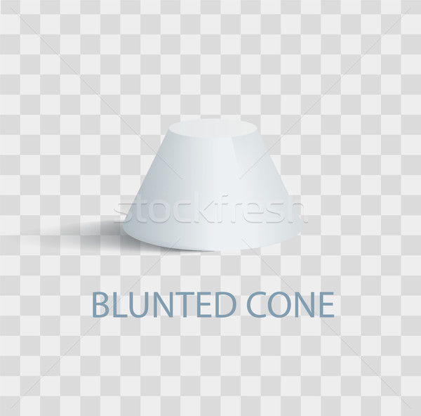 Blunted Cone Isolated Geometric Figure in White Stock photo © robuart