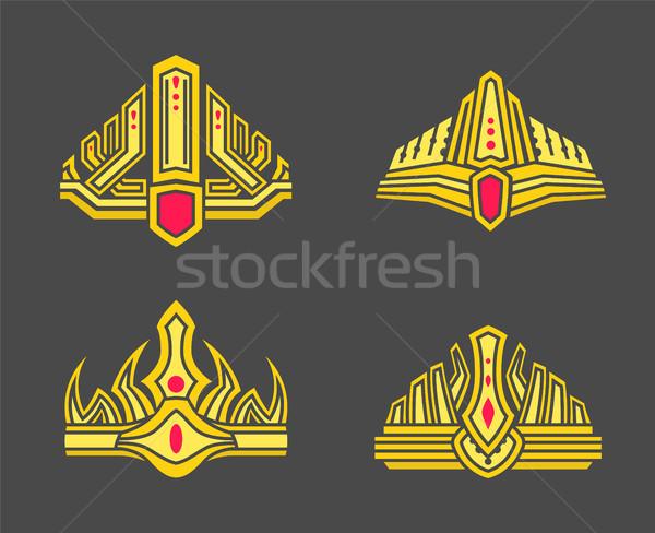 Foto stock: Oro · monocromo · establecer · dorado · estándar