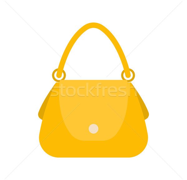 Femminile bag colorato eleganza giallo borsa Foto d'archivio © robuart