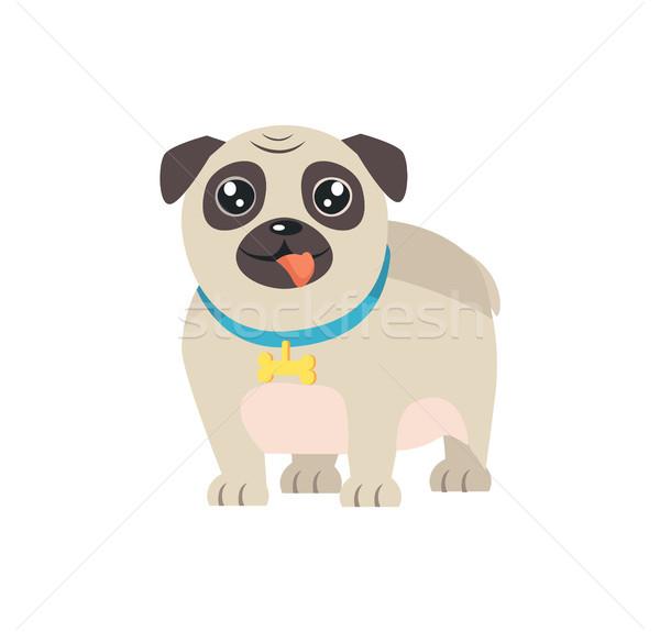 Animal de estimação cão projeto desenho animado estilo osso Foto stock © robuart