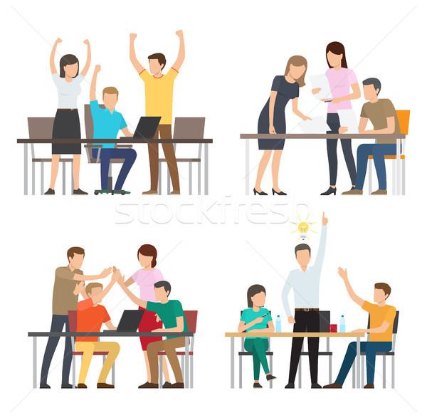 Successful Team Business Idea Vector Illustration Stock photo © robuart
