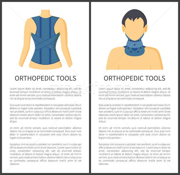 Orthopedische tools wervelkolom nek verwondingen pijnlijk Stockfoto © robuart