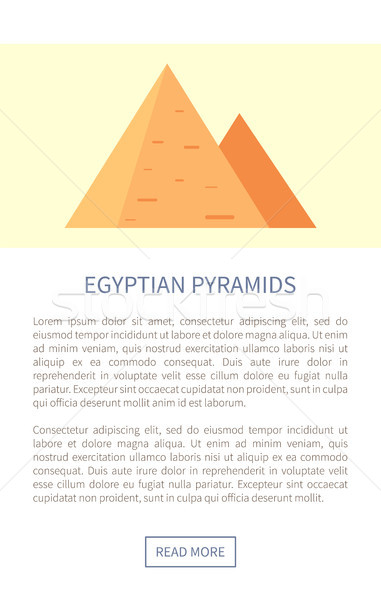 Egyptian Pyramids Web Page Vector Illustration Stock photo © robuart