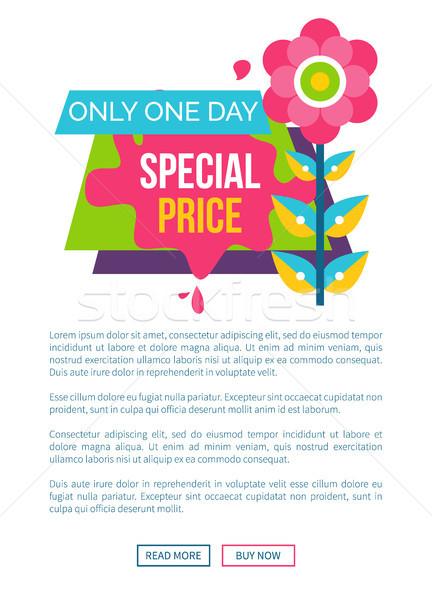 Bir gün özel fiyat Filmi etiket Stok fotoğraf © robuart
