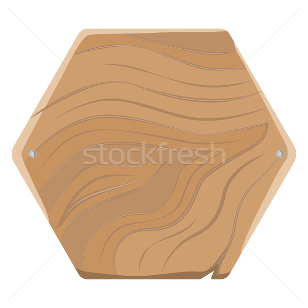 Pentagonal Wooden Board for Advertising with Nails Stock photo © robuart