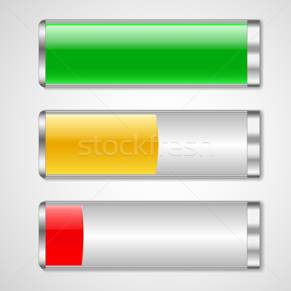 Battery charge status vector illustration Stock photo © robuart