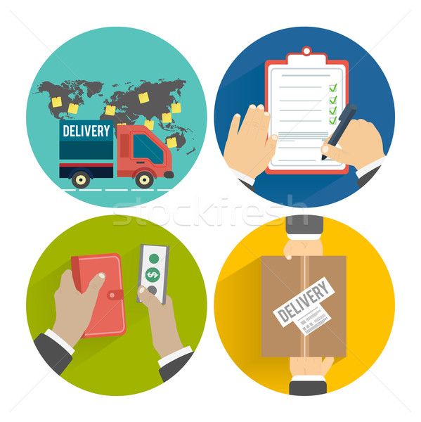 Internet shopping process of purchasing Stock photo © robuart