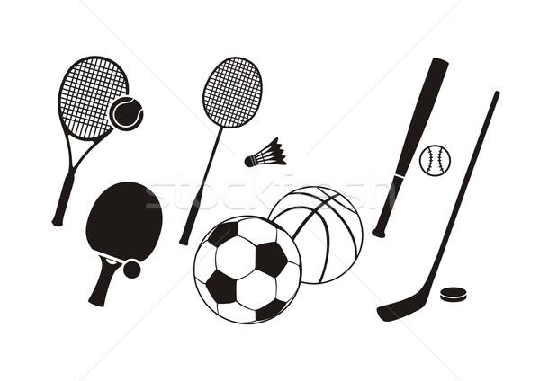 Hockey stick racket tennis baseball badminton Stockfoto © robuart