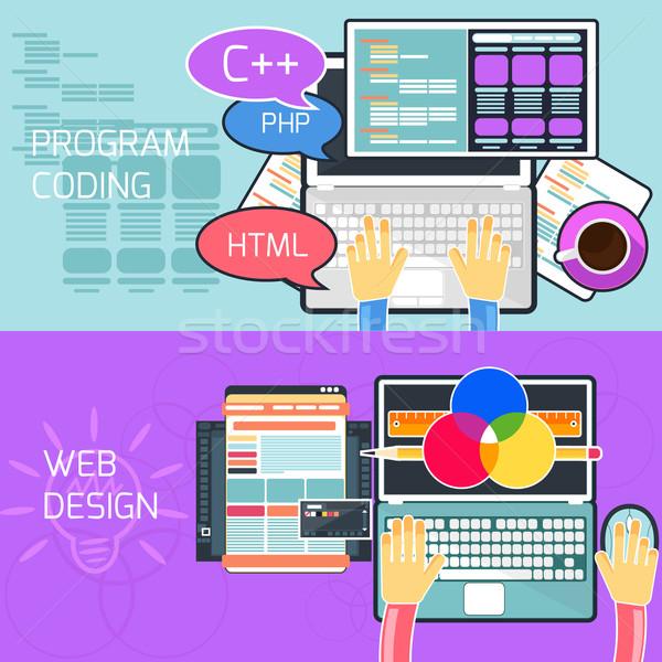 Program kódolás web design terv internet absztrakt Stock fotó © robuart