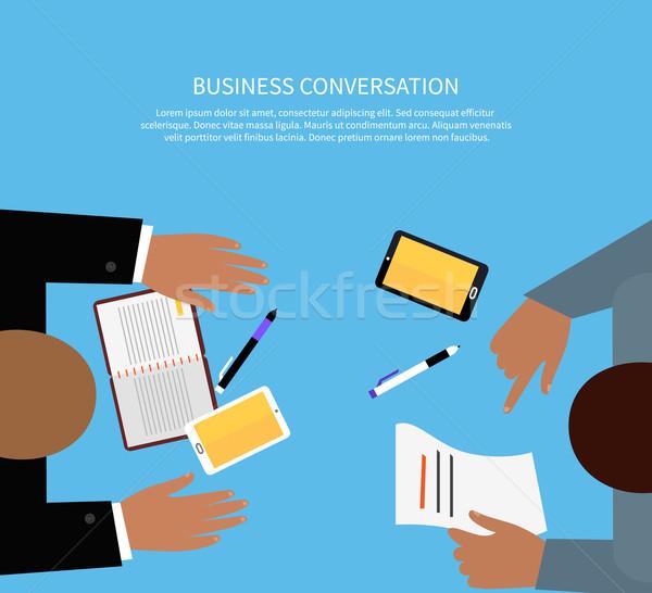 Negócio conversa trabalhar espaço reunião projeto Foto stock © robuart