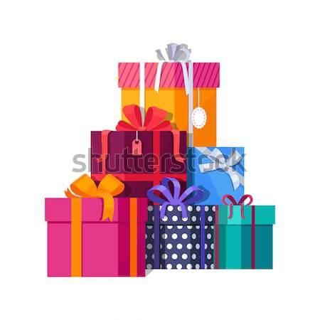 Kleurrijk groot berg geschenken Stockfoto © robuart