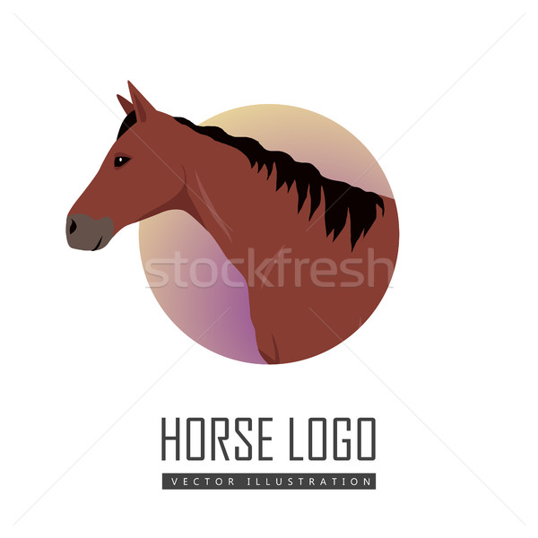 Sorrel Horse Logo Stock photo © robuart