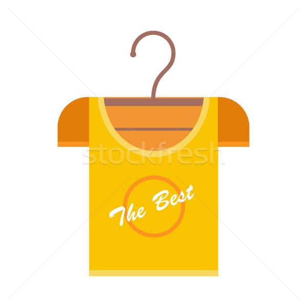 Pomarańczowy tshirt wieszak najlepszy szablon Zdjęcia stock © robuart