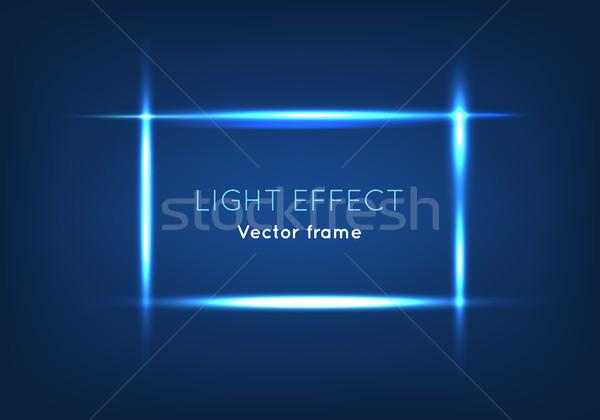 Mavi hat vektör çerçeve ışık etki Stok fotoğraf © robuart