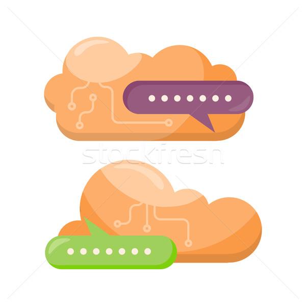 Nuvem armazenamento projeto informações Foto stock © robuart