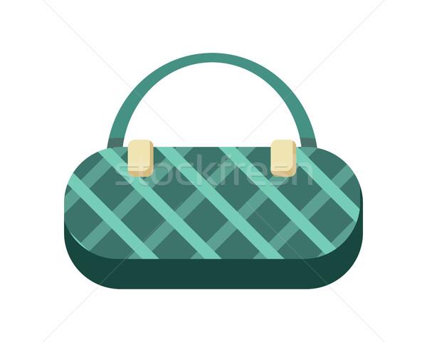 Kézitáska zöld hölgyek női elegáns táska Stock fotó © robuart