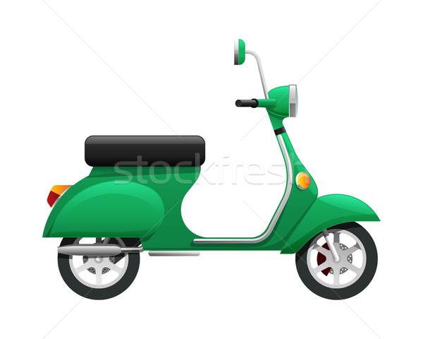 Transport. Illustration of Isolated Green Scooter Stock photo © robuart