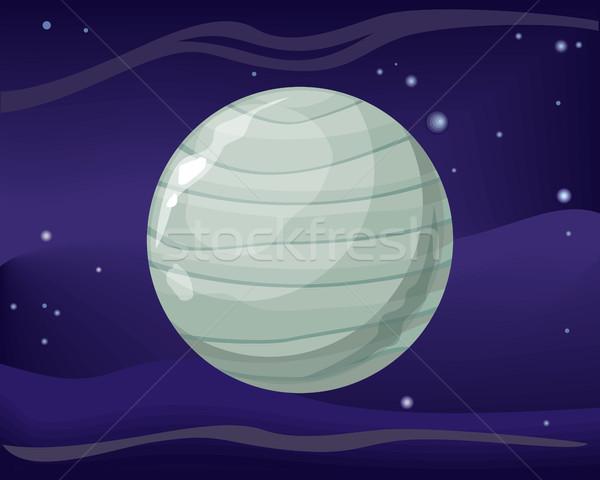 Uranus Planet. Sun System. Universe. Vector. Stock photo © robuart