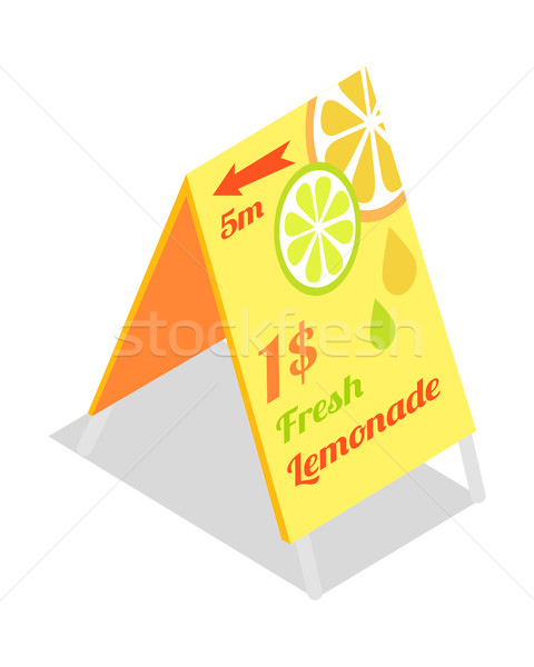 Fresh Lemonade Advertisement Banner. Directory Guide Stock photo © robuart