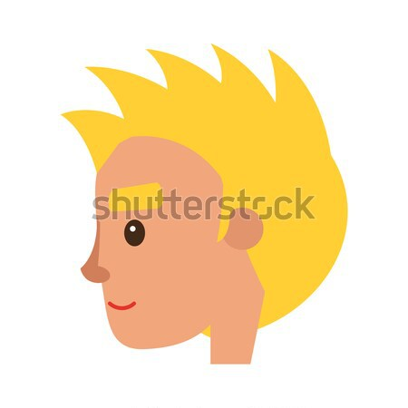 Redhead Male Character in Profile Illustration Stock photo © robuart