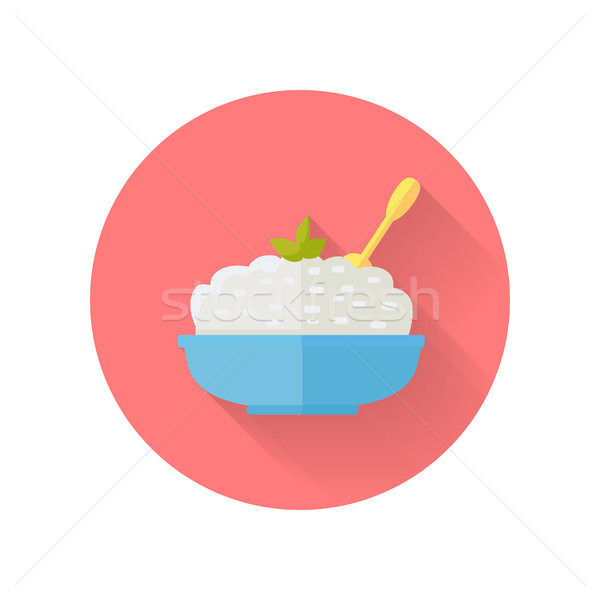 Dairy Dish Vector Illustration in Flat Design Stock photo © robuart