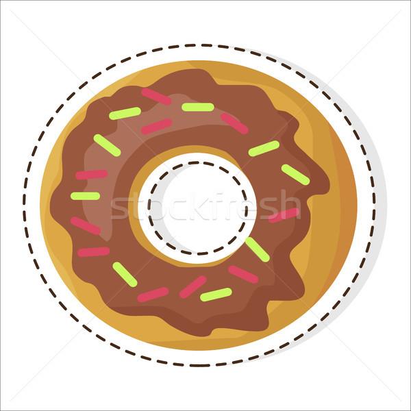 チョコレート 甘い ドーナツ パッチ デザイン ドーナツ ストックフォト © robuart