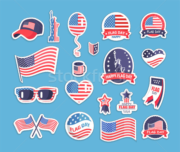 Flag Day of the USA Themed Souvenirs Collection Stock photo © robuart
