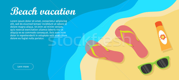 Beach Vacation Banner Stock photo © robuart