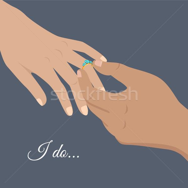I Do Sign and Engagement Process Illustration Stock photo © robuart