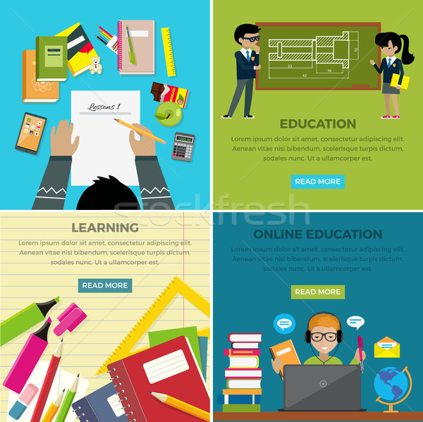 Learning and Online Education Lesson Web Banner Stock photo © robuart