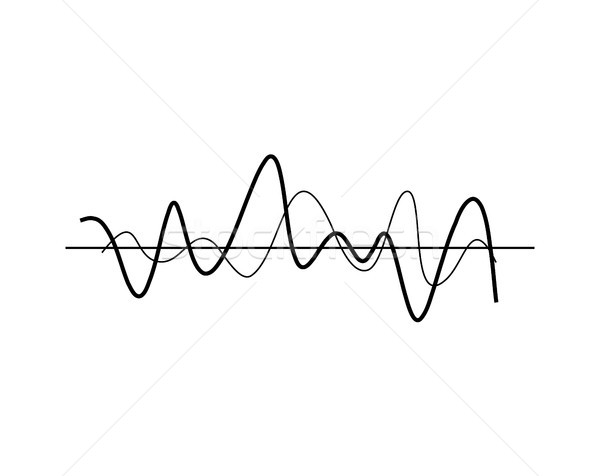 Chaotic Wavy Lines Icon Vector Illustration Stock photo © robuart