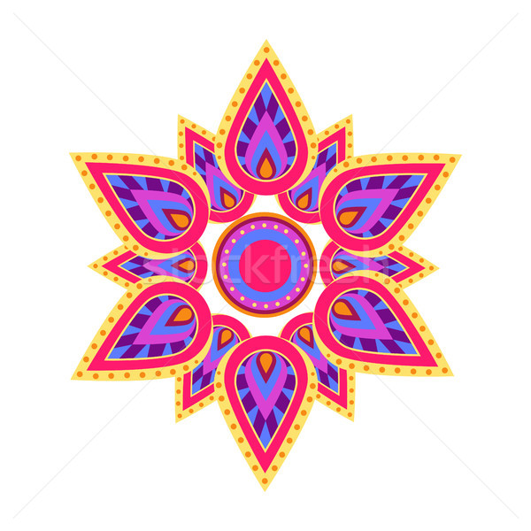 Spiritual Symbol Mandala on Vector Illustration Stock photo © robuart