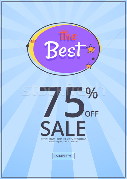 Stock photo: The Best Night Sale Banner with Moon and Stars