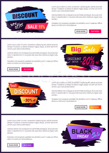 Discount New Offer 15 Friday Vector Illustration Stock photo © robuart