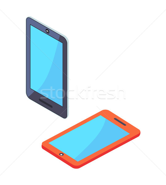 Smartphone Portable Cellphones in Isometric Design Stock photo © robuart