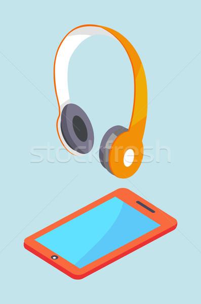 Smartphone moderne stereo uitrusting draadloze Stockfoto © robuart