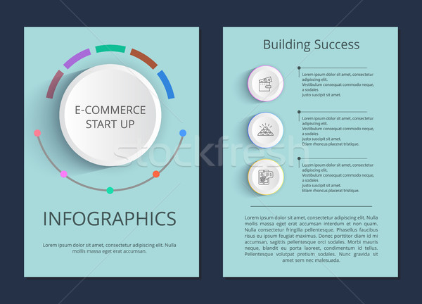 E-commerce Start Up and Building Success Posters Stock photo © robuart