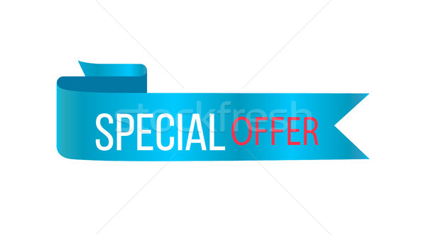 Special Offer Glossy Banner Vector Illustration Stock photo © robuart