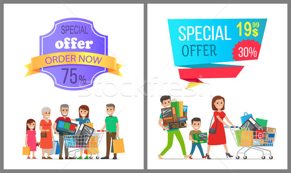 Special Offer Order Now Colorful Discount Banner Stock photo © robuart