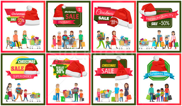 Stock photo: Set of Christmas Sale Premium Quality Banners
